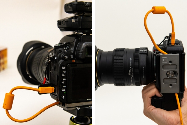 Image of two camera showing tethering capabilities