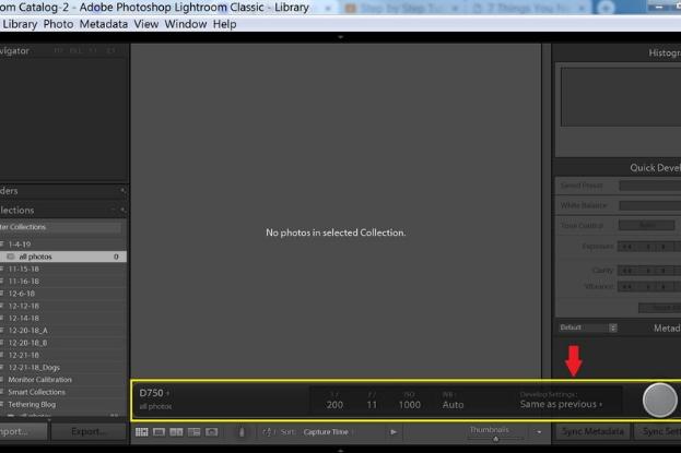 Screen capture of Lightroom window