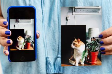 Two photos displayed next to each other on the phone and in print