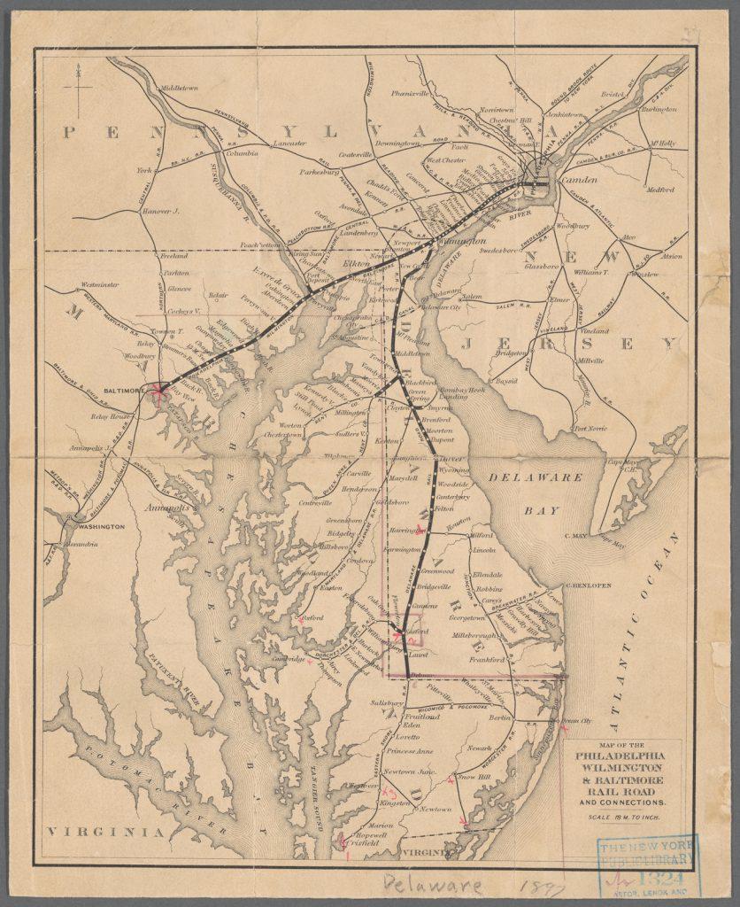 Map of Philadelphia area