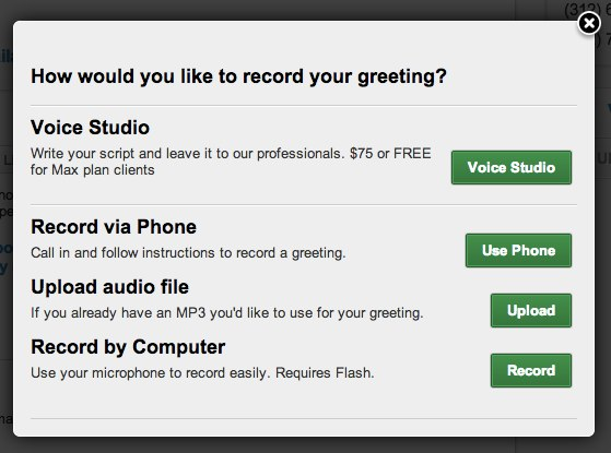 Getting started guide uploading an audio file and recording your greetings by computer are both super simple and very straightforward just click upload or record and youll be m4hsunfo