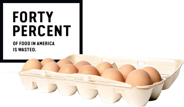 Forty percent of food in America is wasted.