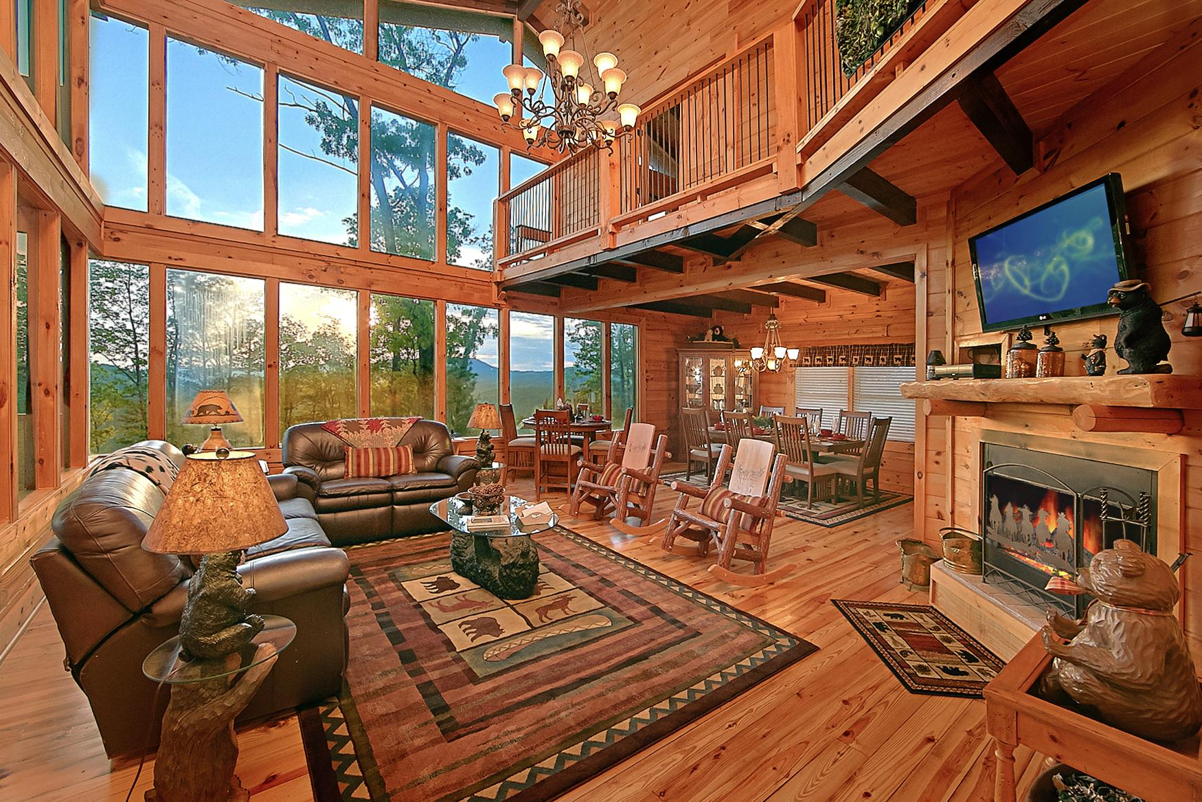 on mountains smoky the sevierville rental sunshine sale cabin luxury winter in cabins walkin