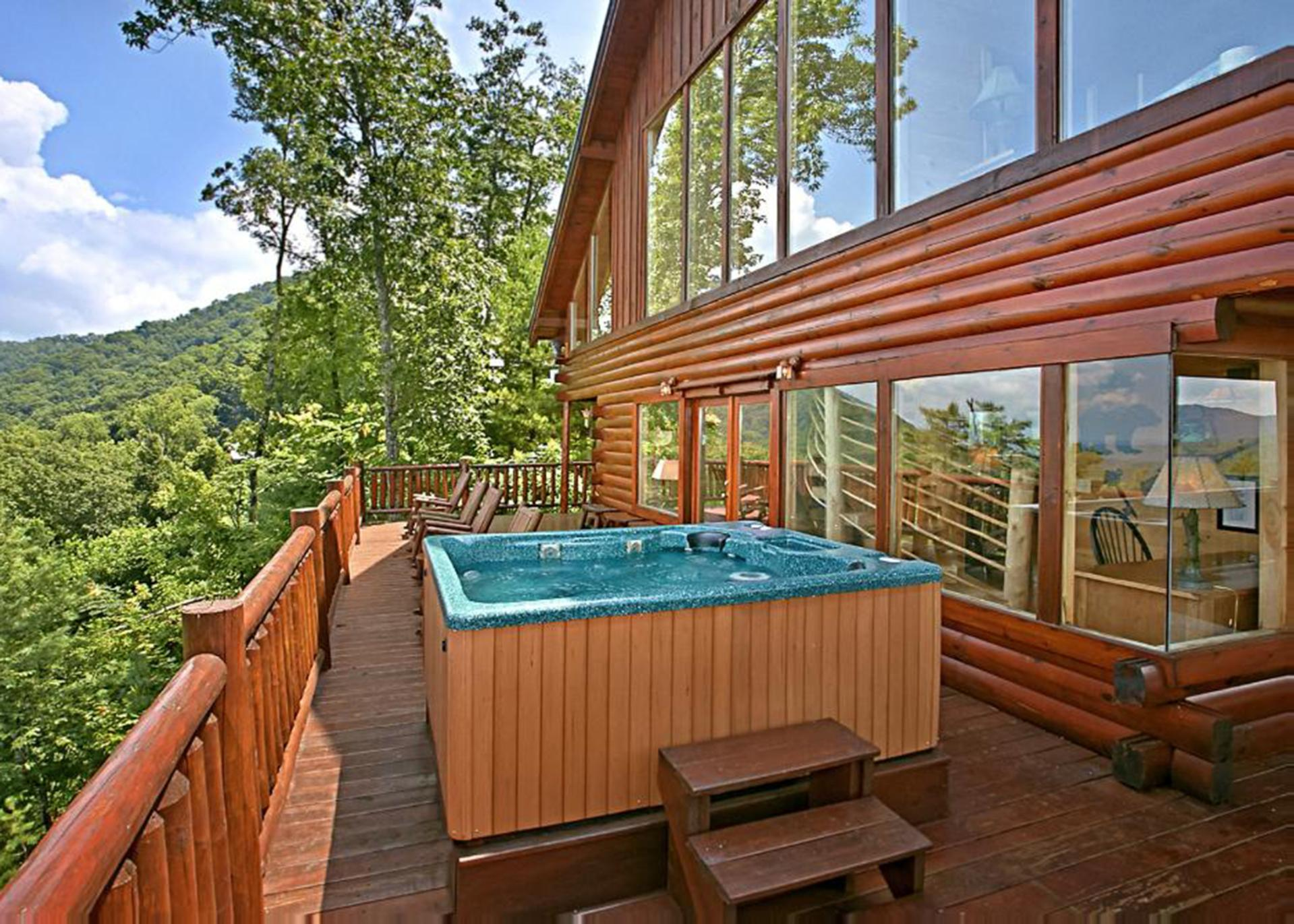 Hot Tub on the large warp around deck.