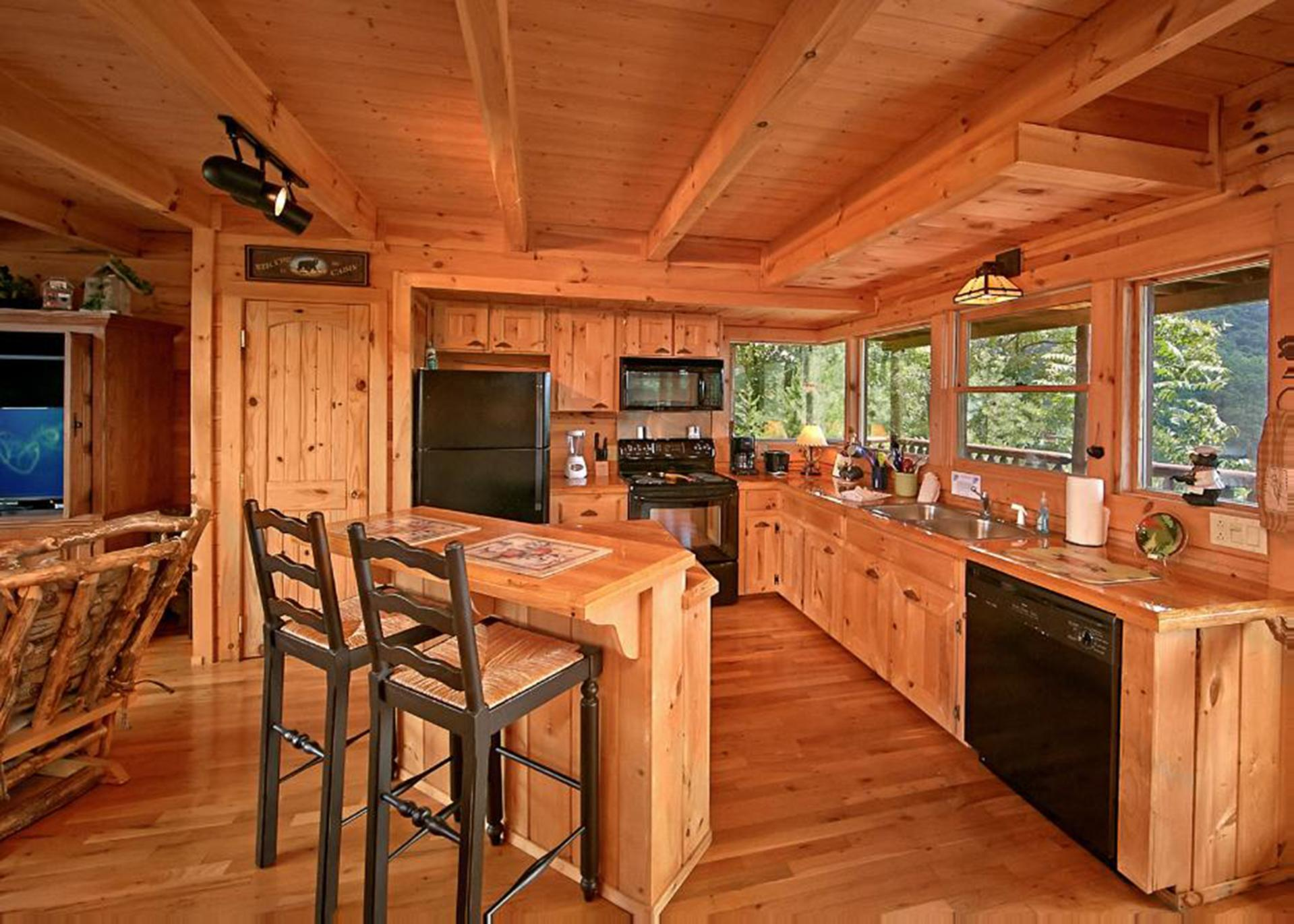 Open kitchen with all the necessities.