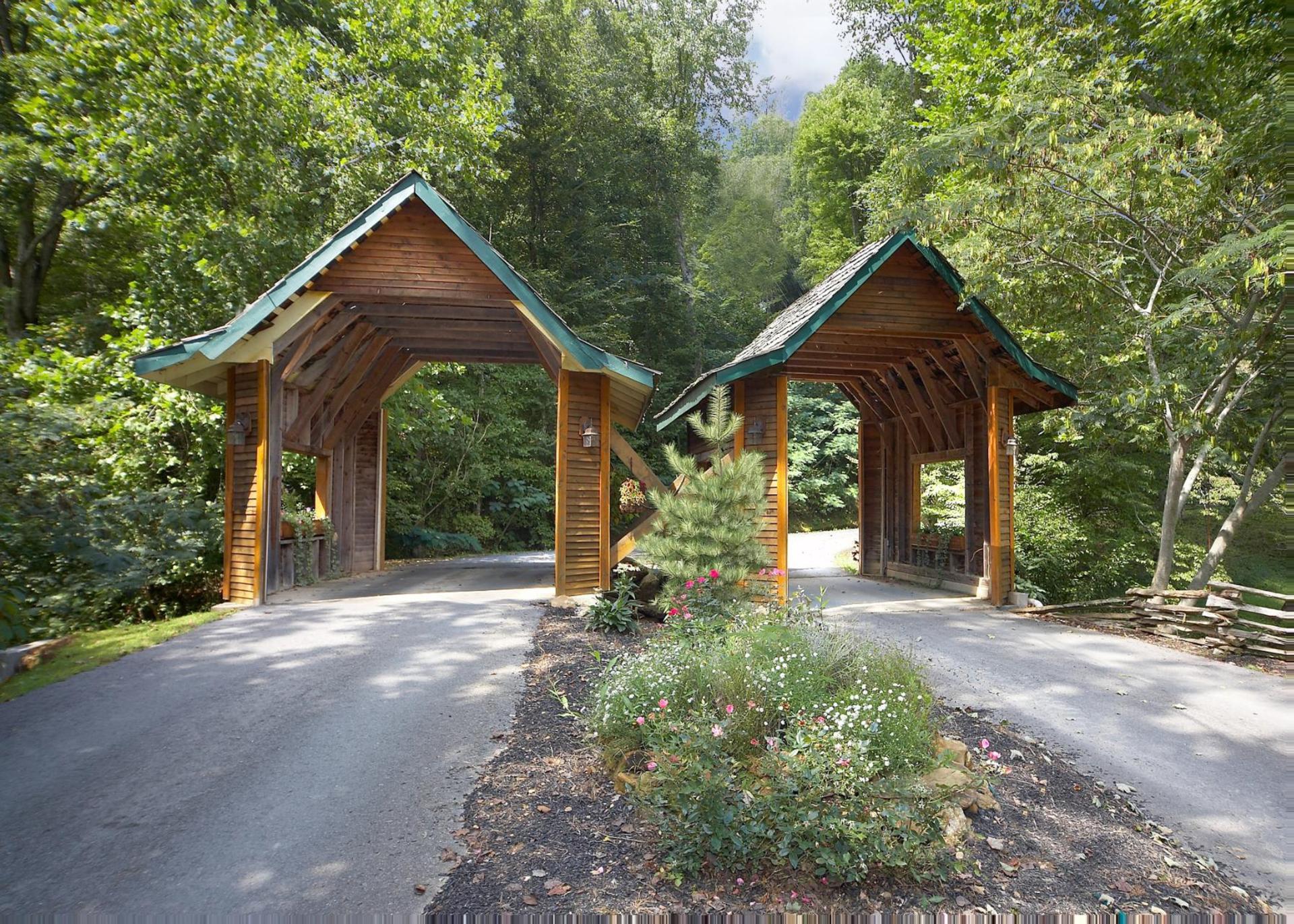 Twin bridges welcome you to the neighborhood