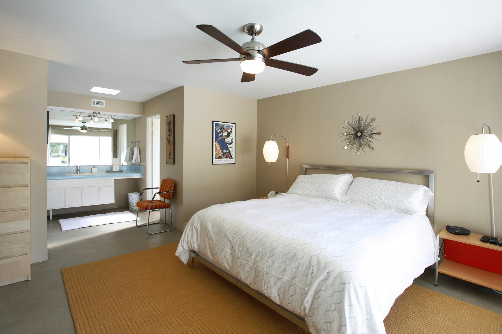 Very Simple Mid Century Modern Ceiling Fan Sculpture Install A