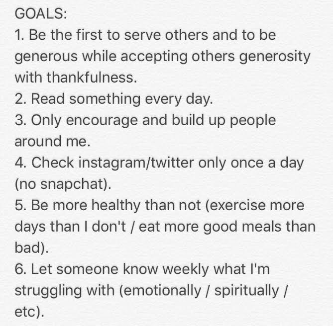 Ive Kept These Things In Mind As I Started The New Year Now That A Bit More Time Has Passed By I Have New Perspective On Resolutions And Good News If You