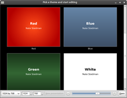 Select from a variety of presentation themes