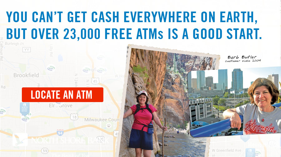 You can't get cash everywhere on earth, but over 23,000 free ATMs is a good start.
