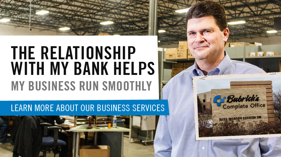 Learn about North Shore Bank's Business Services