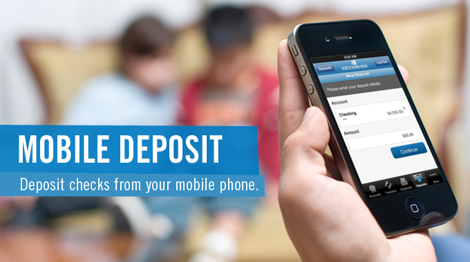 Save a trip to the bank with Mobile Deposit & North Shore Bank's Mobile Banking app.