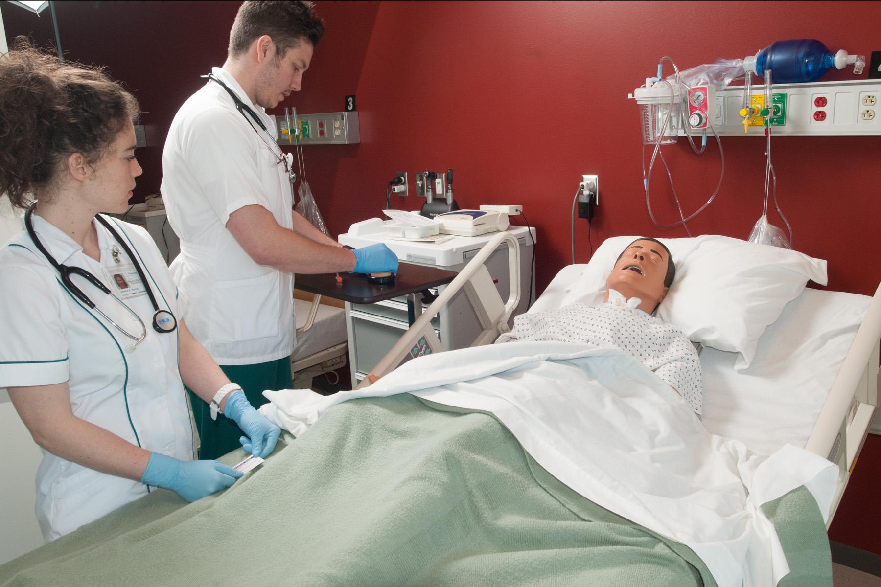 Nursing Students Learning Skills
