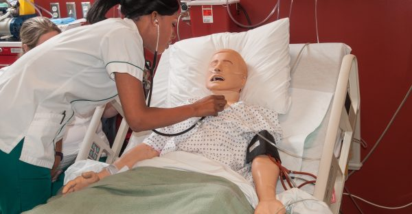 Nursing Listening To Heart On Mannequin