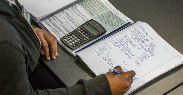 Calculator And Open Book
