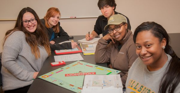 Sociology Group Playing Monopoly