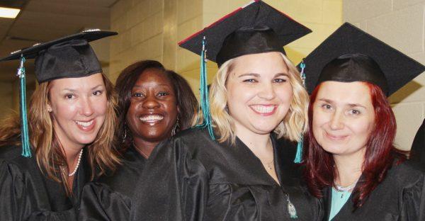 Four Graduates Before Ceremony