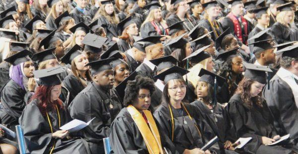 Graduates Waiting To Receive Degrees