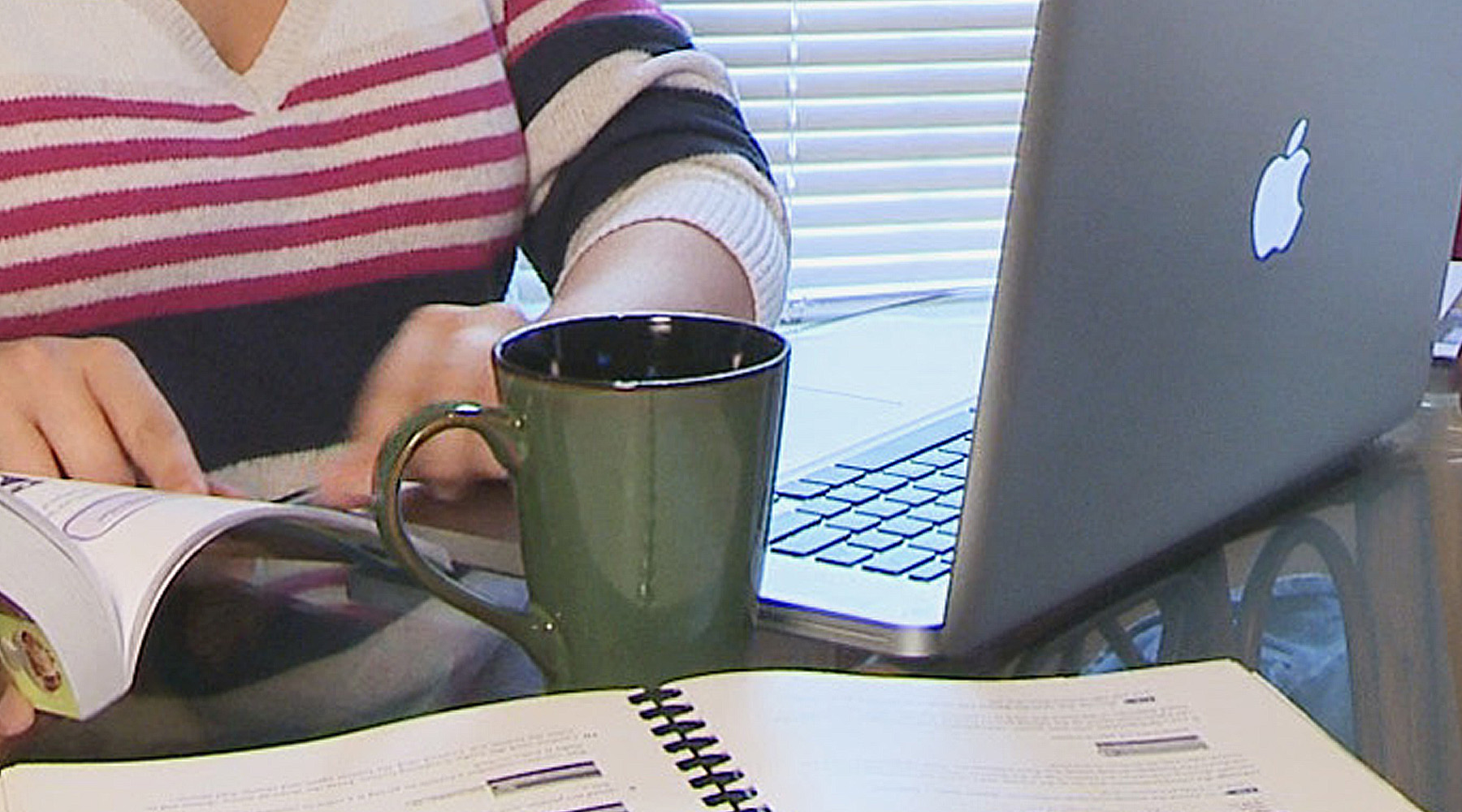 Online Student Studying At Home