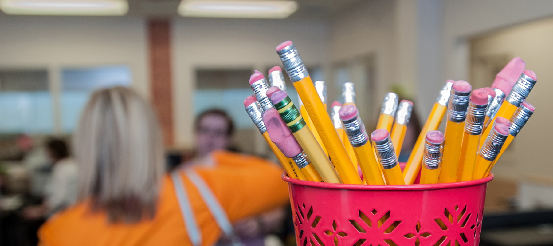 Pencils At Testing Center