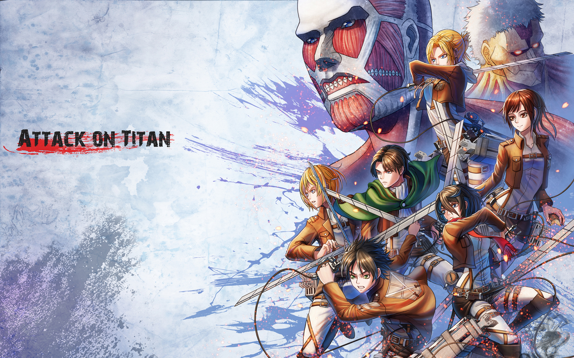 Attack On Titan Levi Hd Wallpaper New Tab Playtime