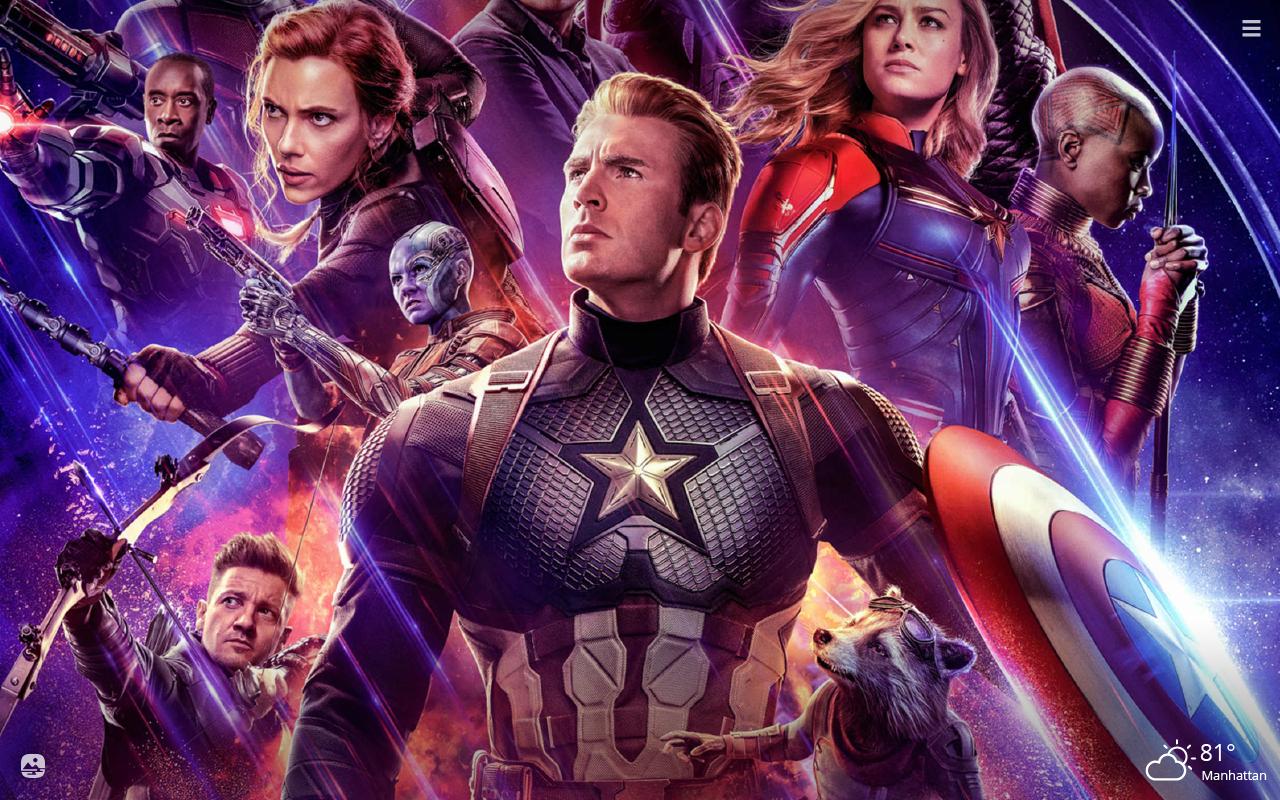 Avengers Endgame Hd Wallpapers New Tab Playtime