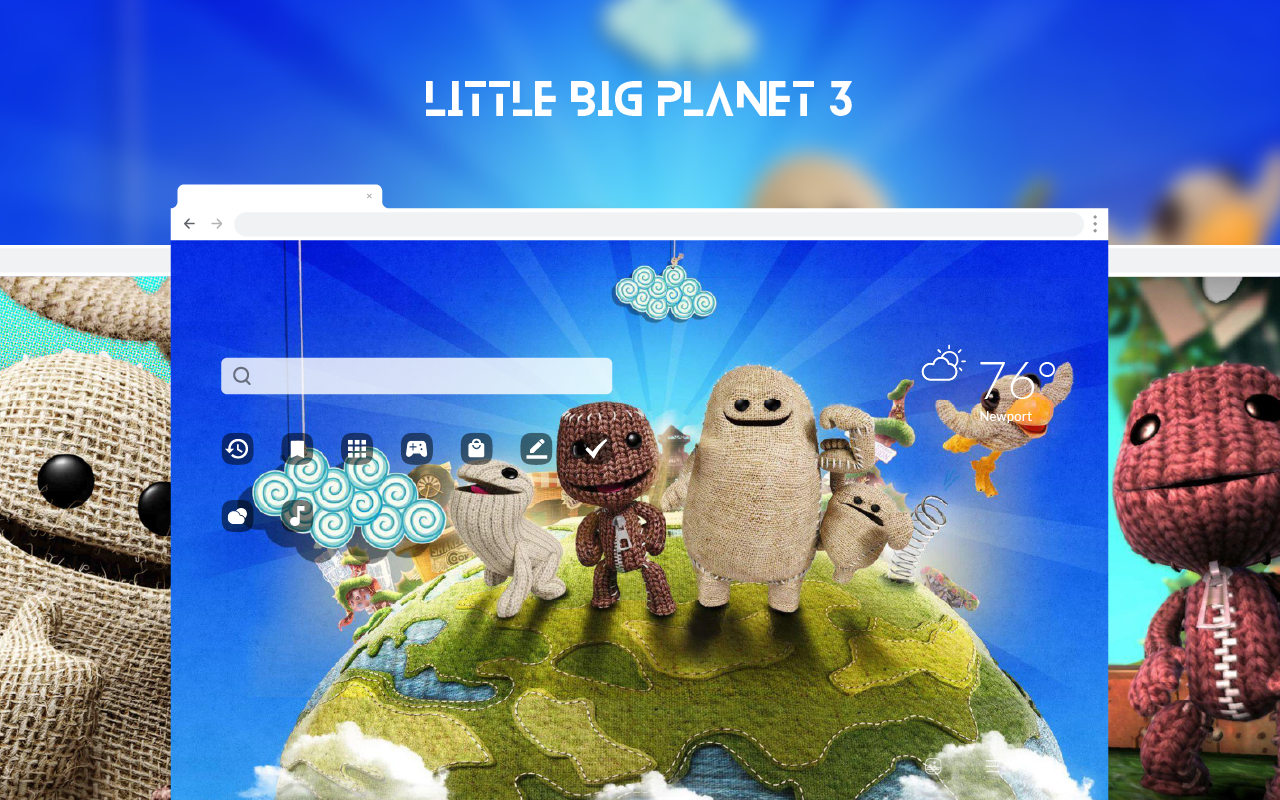 LittleBigPlanet 3 HD Wallpapers New Tab