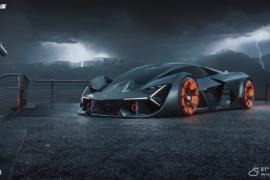 Black Lamborghini car