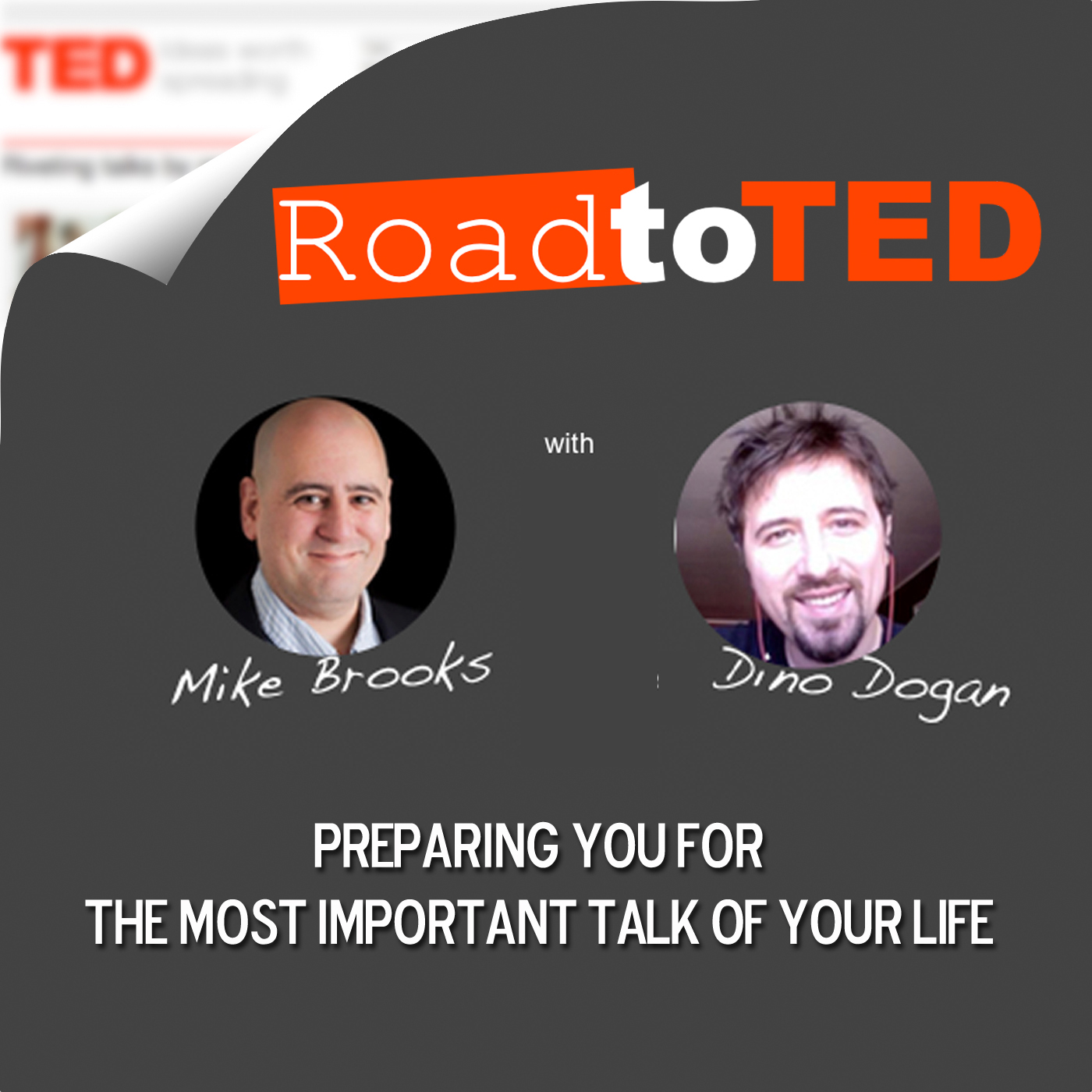 Road To TED | Public Speaking / TED Talks / TEDx / Toastmasters / Business Speaking / Mike Brooks And Dino Dogan