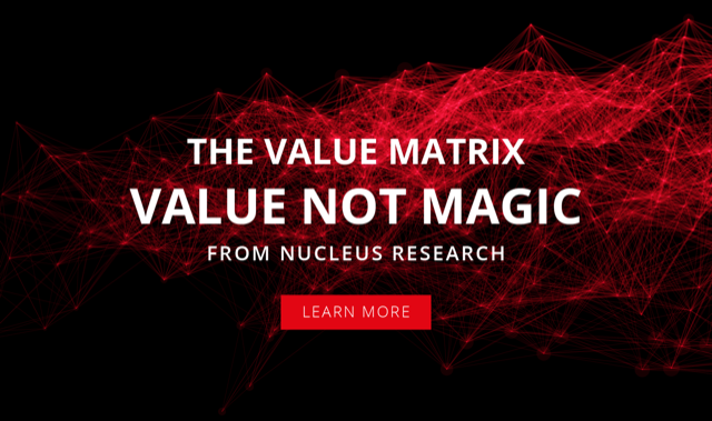 Nucleus Research Value Matrix