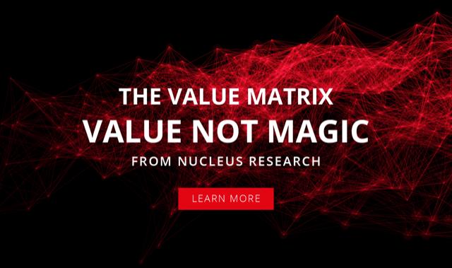 Nucleus Research Value Matrix