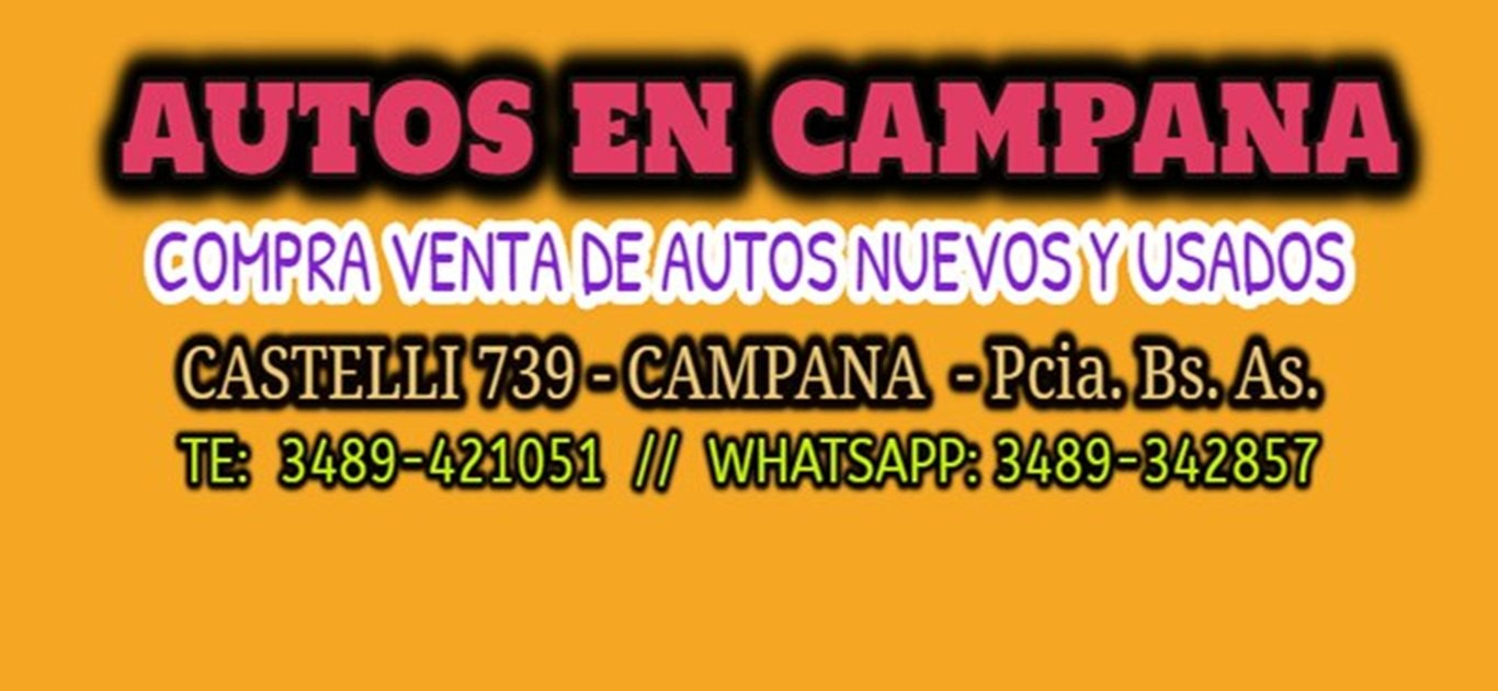Autos en Campana