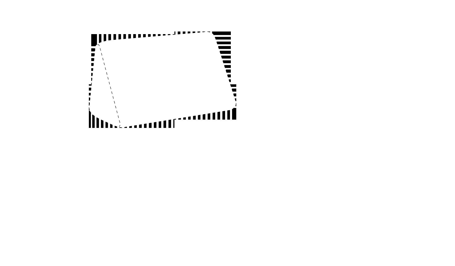 Left pillow outline