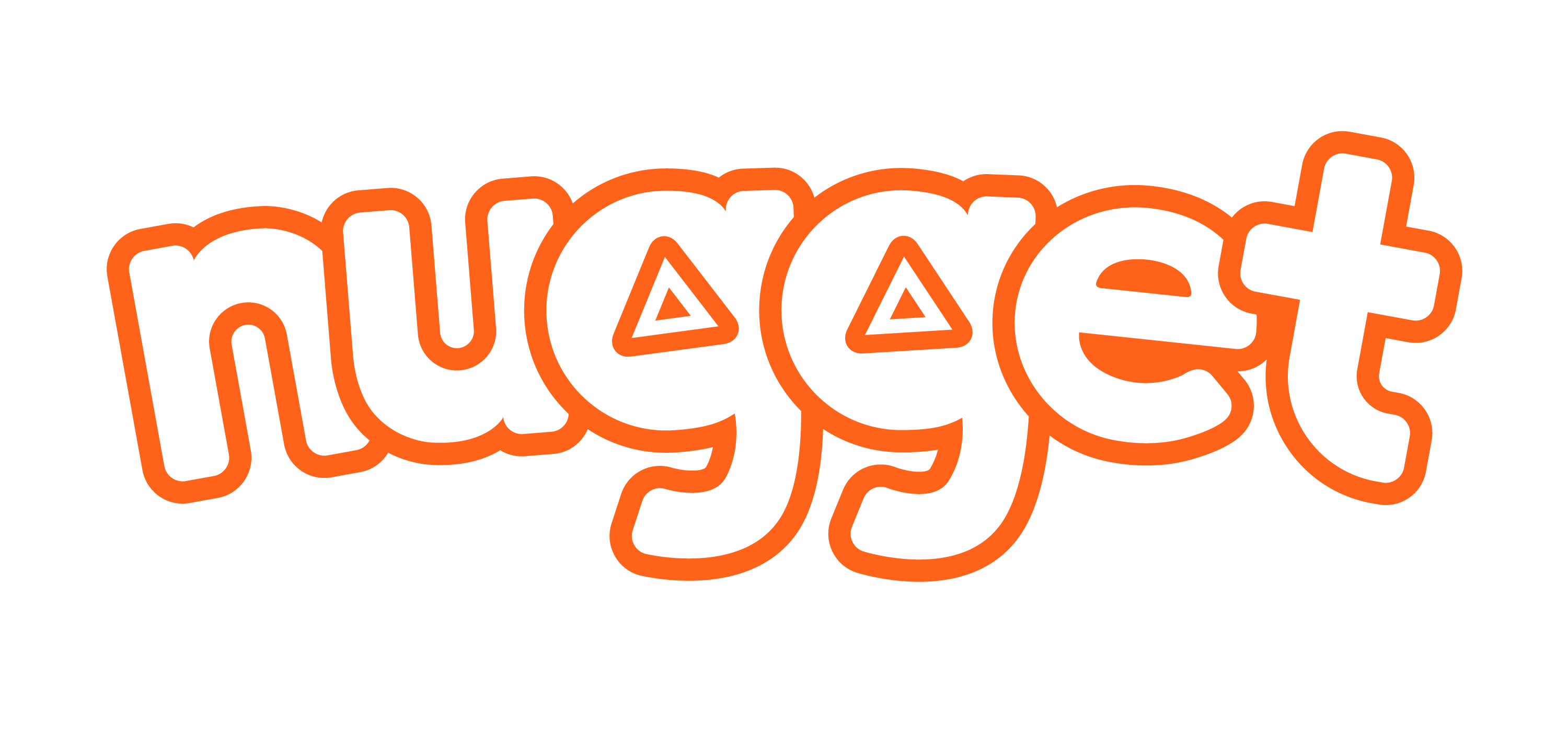 Nugget logo curved trans