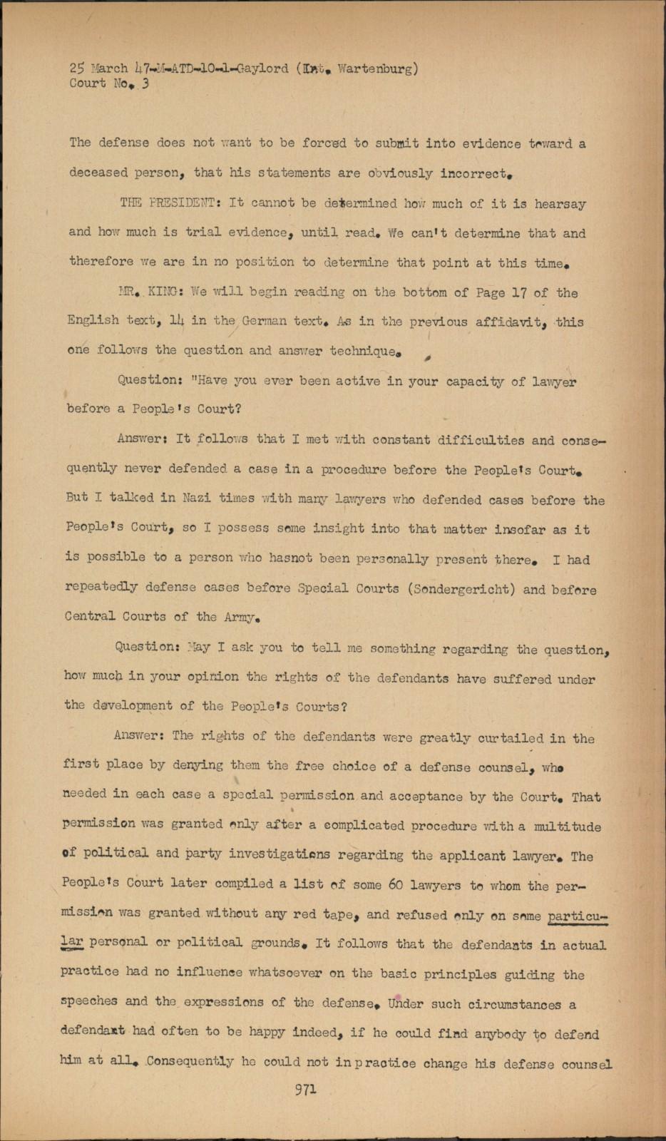 super popular 25e2a e2004 Nuremberg - Transcript Viewer - Transcript for NMT 3  Justice Case
