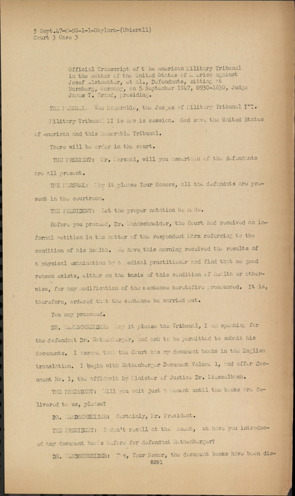 transcript of records heidelberg