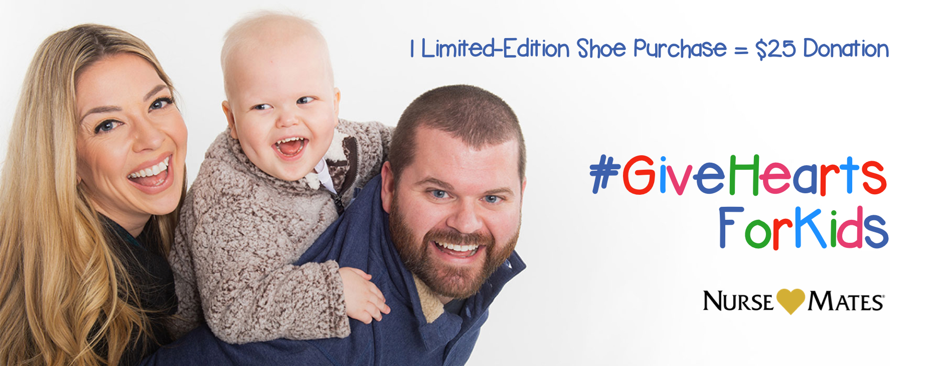 1 limited edition shoe purchase equals 25 dollar donation