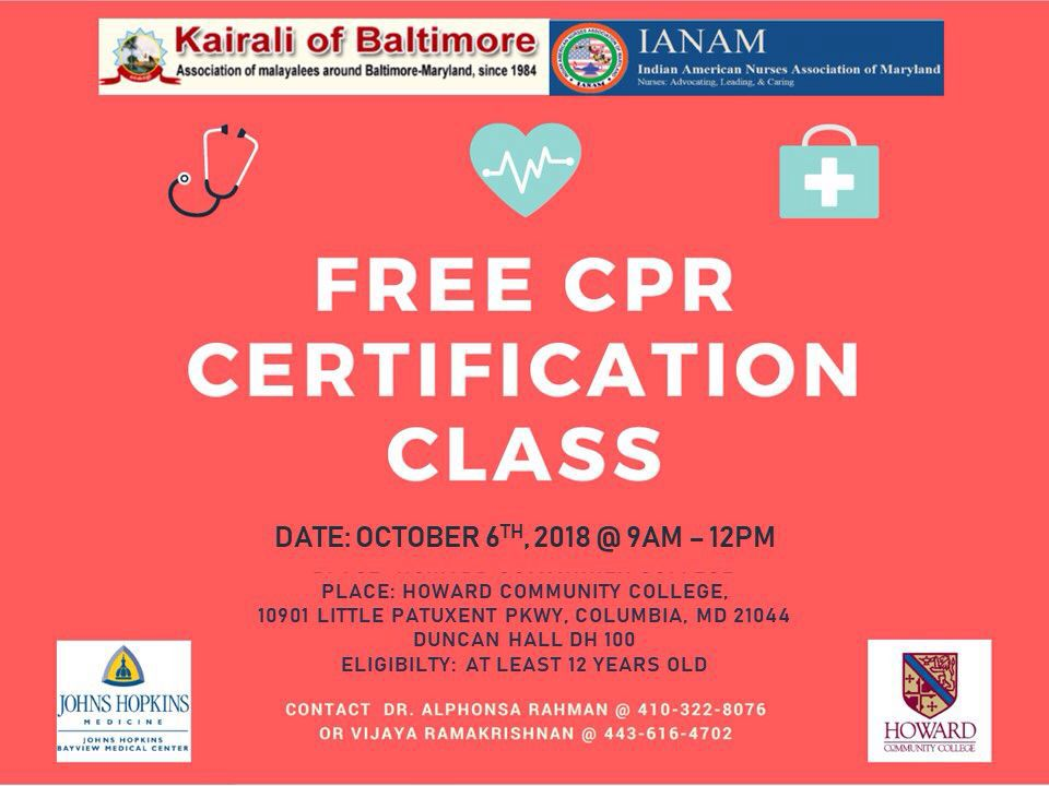 Free Bls Certification For The Community On October 6th 2018 The
