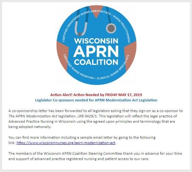 Legislative Action Alert Act To Provide >> Legislative Update Wi Aprn Coalition Action Alert Aprn