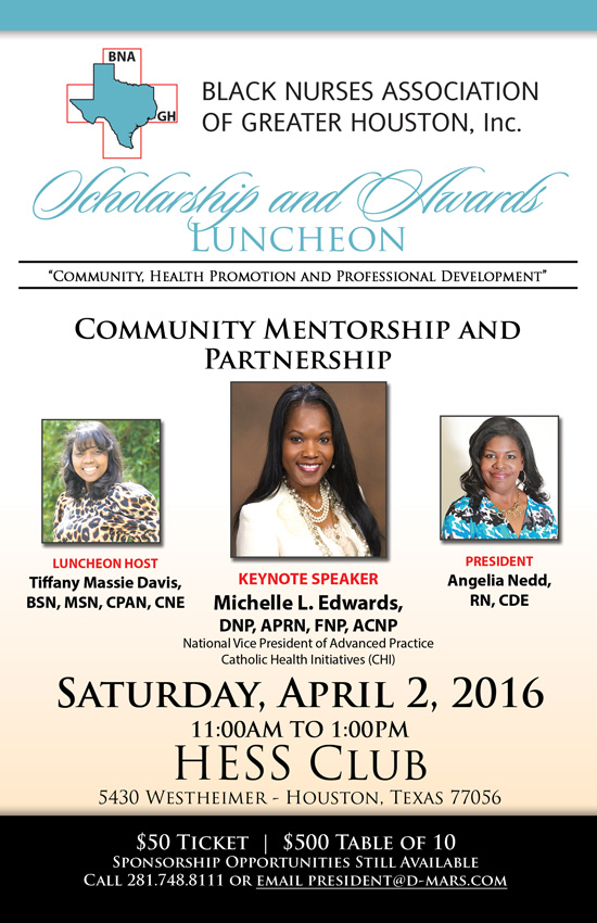 On April 2 2016 BNAGH Will Host Its Scholarship Luncheon 1100 Am At The Hess Club 5430 Westheimer Houston Texas 77056 Please Make Plans To Attend