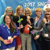 Boise School Nurses having fun at the photo booth!