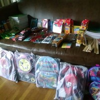 School Supplies donated by Tau Chi Chapter