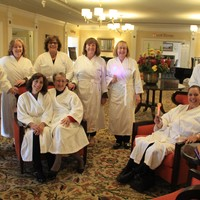 Sitting L-R: Carol Parks, Yolanda Lang, Pat Carroll; Standing L-R: Marie Warda, Kathleen Lawrence, Gail Carchietta, Deborah Berg, Pat Sadowski, Steve Marks