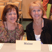 Ginny Farley and Shelly Rinfret at the Representative Assembly.