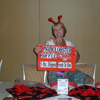 Shelly Rinfret and the Lobster Raffle.