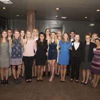Several nursing students attended the event