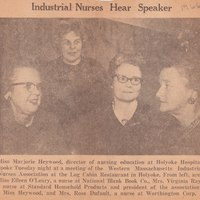 1966 Industrial Nurses Meeting
