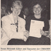 Central Mass wins Newletter award - Gail Army & Sue Holcomb