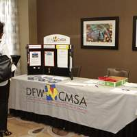 Showing off DFW CMSA's banner and membership information.