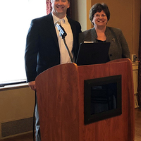 Speaker, David Griffiths with Debra Wolff